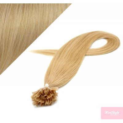 "20"" (50cm) Nail tip / U tip human hair pre bonded extensions - natural blonde"
