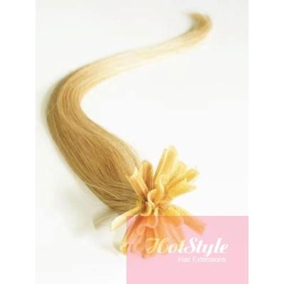 "24"" (60cm) Nail tip / U tip human hair pre bonded extensions - natural blonde"