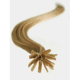"24"" (60cm) Nail tip / U tip human hair pre bonded extensions – light brown"