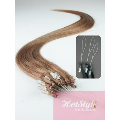 "15"" (40cm) Micro ring human hair extensions - light brown"