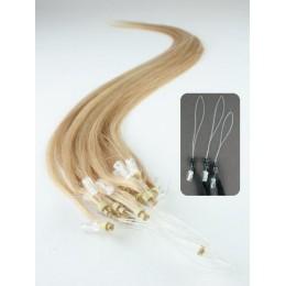 "15"" (40cm) Micro ring human hair extensions – natural blonde"
