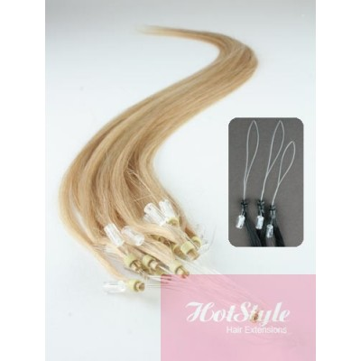 "15"" (40cm) Micro ring human hair extensions - natural blonde"