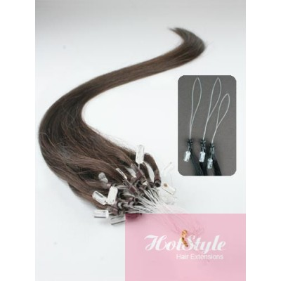 "20"" (50cm) Micro ring human hair extensions - dark brown"