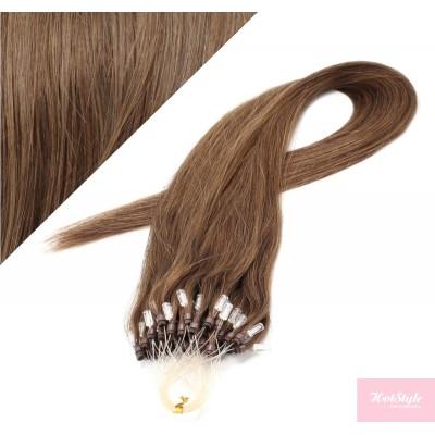 "20"" (50cm) Micro ring human hair extensions - medium light brown"