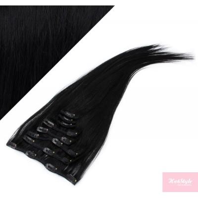 "15"" (40cm) Clip in human REMY hair - black"