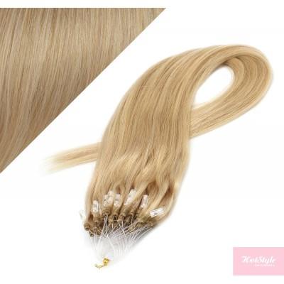"24"" (60cm) Micro ring human hair extensions - natural blonde"