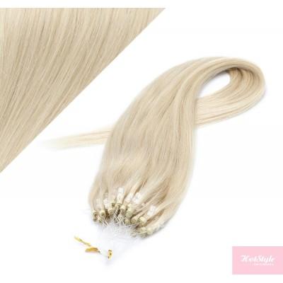 "24"" (60cm) Micro ring human hair extensions - platinum blonde"