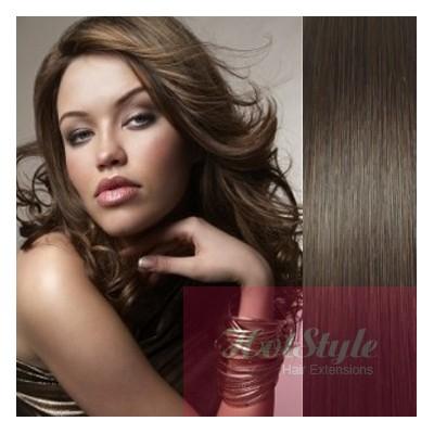 "20"" (50cm) Tape Hair / Tape IN human REMY hair - dark brown"