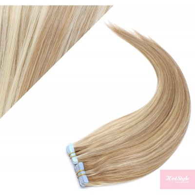 """20"""" (50cm) Tape Hair / Tape IN human REMY hair - mixed blonde"""