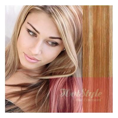 20 50cm tape hair tape in human remy hair mixed blonde pmusecretfo Choice Image