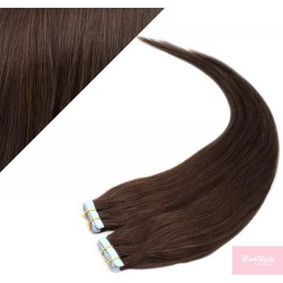 "24"" (60cm) Tape Hair / Tape IN human REMY hair - dark brown"