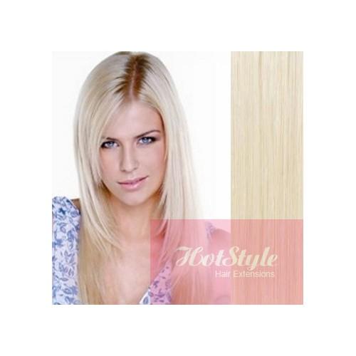 24 60cm Tape Hair Tape In Human Remy Hair Platinum Blonde