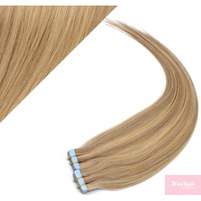"""24"""" (60cm) Tape Hair / Tape IN human REMY hair - light blonde/natural blonde"""