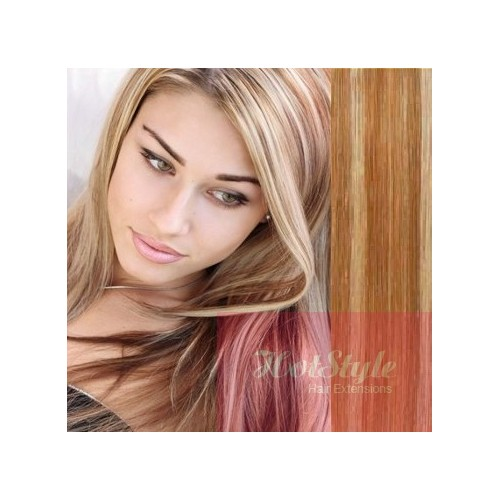 24 60cm Tape Hair Tape In Human Remy Hair Mixed Blonde