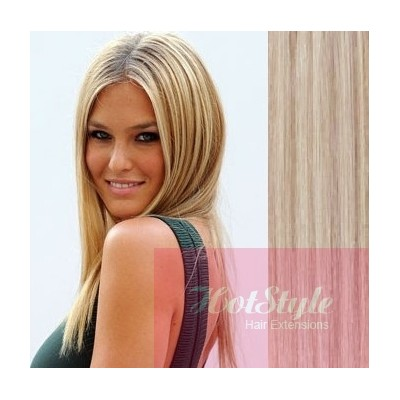24 60cm tape hair tape in human remy hair platinumlight brown pmusecretfo Choice Image
