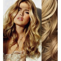 "20"" (50cm) Clip in wavy human REMY hair - natural blonde"