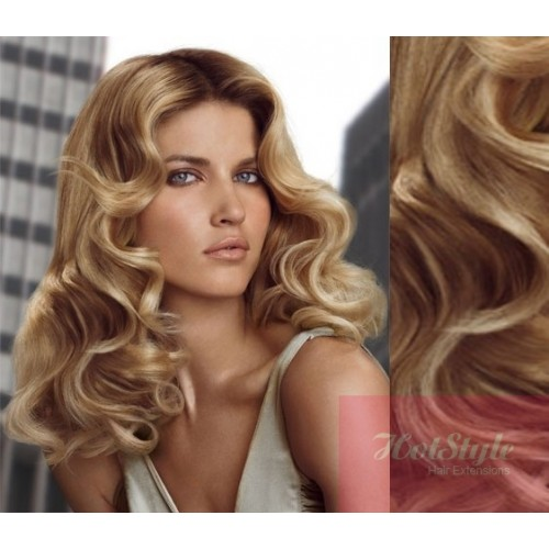 Clip In Wavy Human Hair Remy Light Blondenatural Blonde 20 50cm