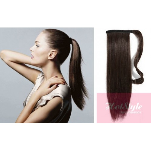 Clip Ponytail Wrap Braid Hair Extension Straight