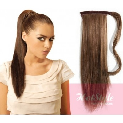 Clip in ponytail wrap braid hair extension 24 straight medium clip in ponytail wrap braid hair extension 24 straight medium brown pmusecretfo Images