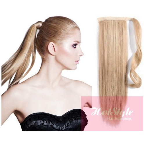 Clip In Ponytail Wrap Braid Hair Extension 24 Straight Natural