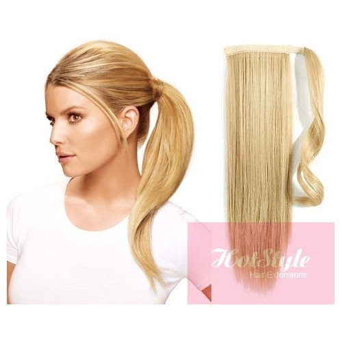 Clip In Ponytail Wrap Braid Hair Extension 24 Straight The