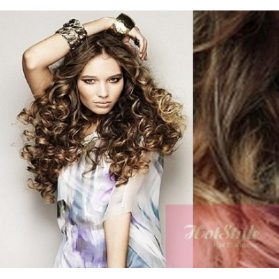 styling hair with clip in extensions clip in hair extesions 20 quot 50cm curly 5036