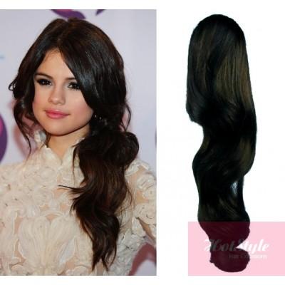 clip in ponytail wrap braid hair extension 24 wavy black