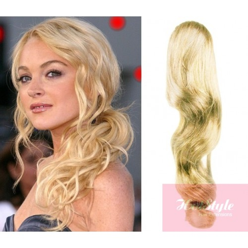 Clip In Ponytail Wrap Braid Hair Extension 24 Wavy The Lightest