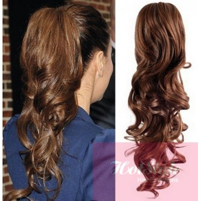 Clip in ponytail wrap braid hair extension 24 curly medium brown clip in ponytail wrap braid hair extension 24 curly medium brown pmusecretfo Gallery