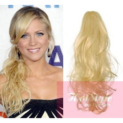 Clip in ponytail wrap braid hair extension 24 curly the clip in ponytail wrap braid hair extension 24 curly the lightest blonde pmusecretfo Image collections