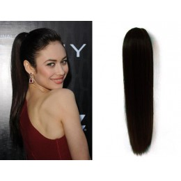 "Claw ponytail 24"" straight - black"
