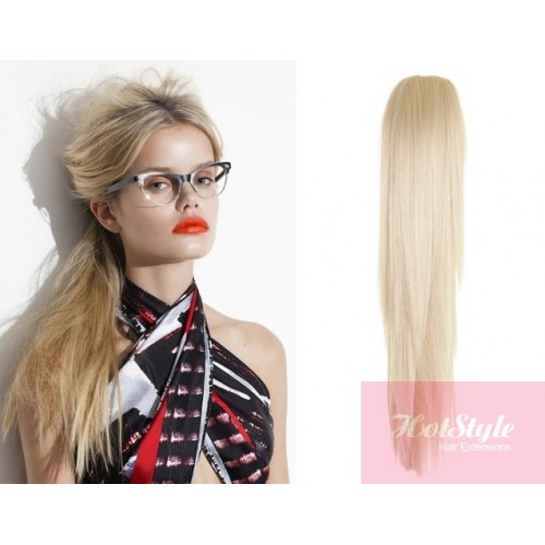 Claw ponytail 24 straight platinum blonde pmusecretfo Image collections
