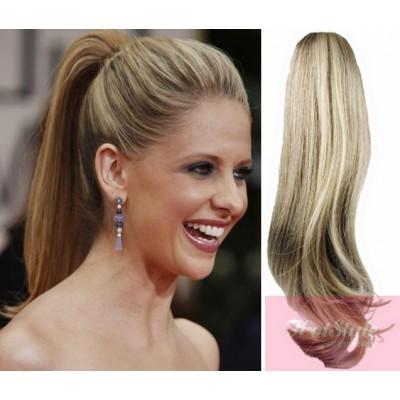 "Claw ponytail 24"" straight - platinum/light brown"