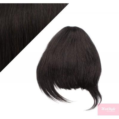 Clip in human hair remy bang/fringe - natural black