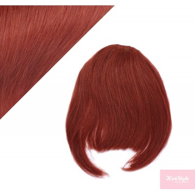 Clip in human hair remy bang/fringe - copper red