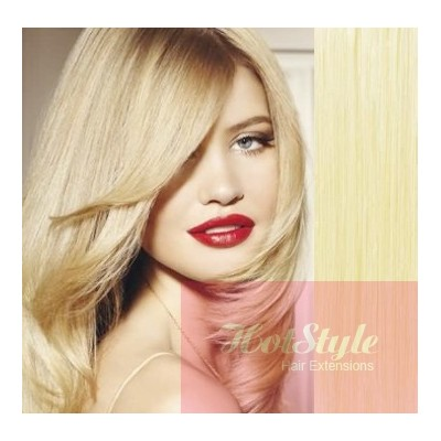 """15"""" (40cm) Clip in human REMY hair - the lightest blonde"""