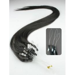 "20"" (50cm) Micro ring human hair extensions – natural black"