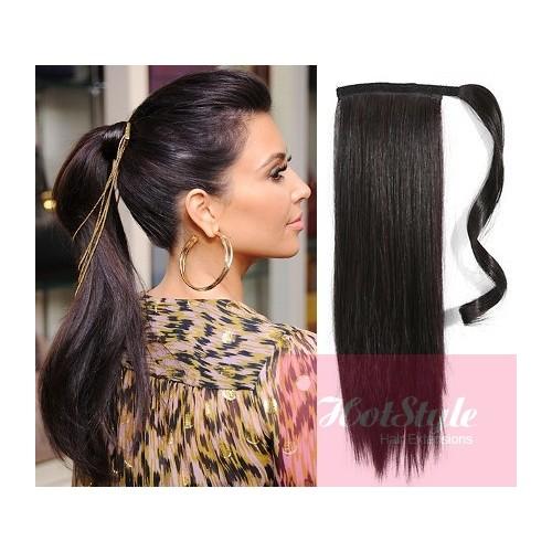 Pleasing Clip In Ponytail Wrap Braid Hair Extension 24Quot Straight Short Hairstyles Gunalazisus