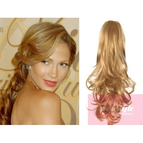 Clip In Ponytail Wrap Braid Hair Extension 24 Curly Natural