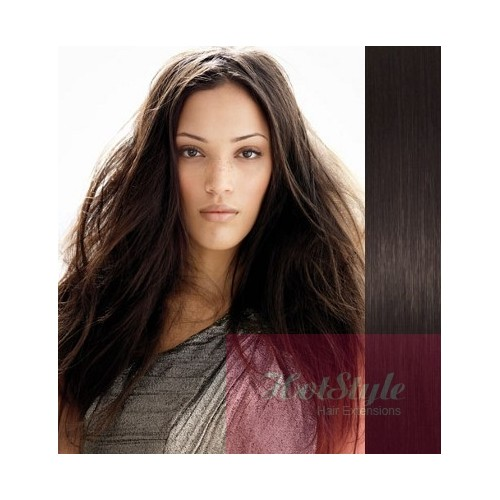 Clip In Human Hair Remy Natural Black 20 50cm