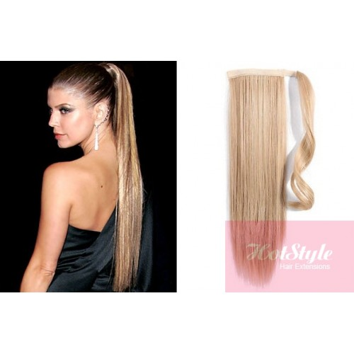 Clip In Human Hair Ponytail Wrap Hair Extension 20 Straight