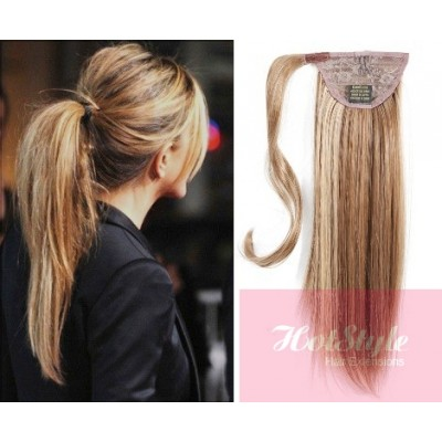 Clip In Human Hair Ponytail Wrap Extension 20 Straight
