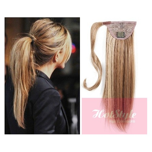 Clip in human hair ponytail wrap hair extension 20 straight clip in human hair ponytail wrap hair extension 20 straight mixed blonde pmusecretfo Image collections
