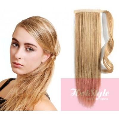 clip in human hair ponytail wrap hair extension 24