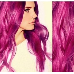 """16"""" (40cm) Tape Hair / Tape IN human REMY hair - pink"""