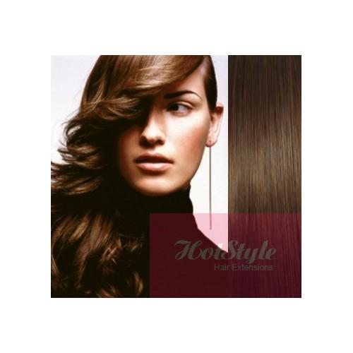 Clip In Human Hair Remy Medium Brown 20 50cm