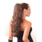 "Claw/jaw clip in ponytails 24"" wavy"