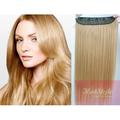 """20"""" one piece full head clip in hair weft extension straight - natural blonde"""