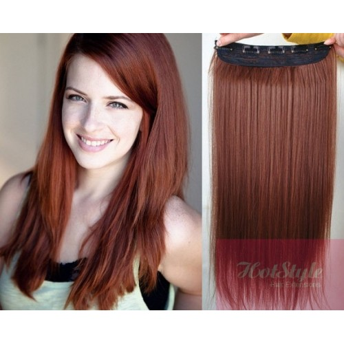20 one piece full head clip in hair weft extension straight 20 one piece full head clip in hair weft extension straight copper red pmusecretfo Images