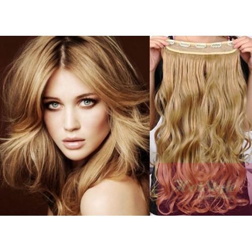 16 one piece full head clip in hair weft extension wavy light 16 one piece full head clip in hair weft extension wavy light blonde pmusecretfo Gallery